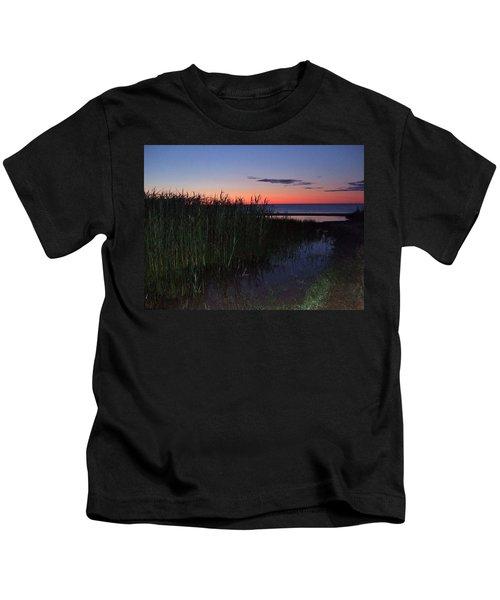 Sunrise Over Lake Huron Kids T-Shirt