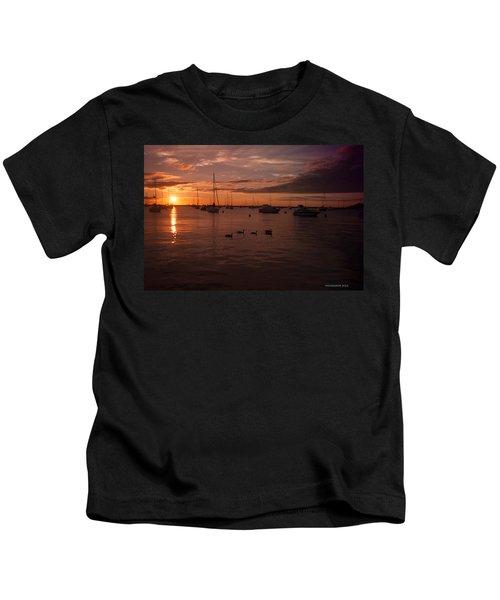 Sunrise Over Lake Michigan Kids T-Shirt