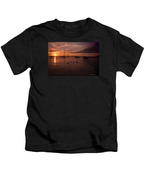 Sunrise Over Lake Michigan Kids T-Shirt