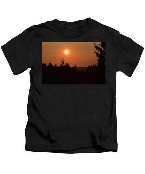 Sunset At Owl's Head Kids T-Shirt