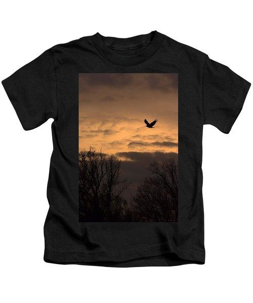 Sunset Eagle Kids T-Shirt
