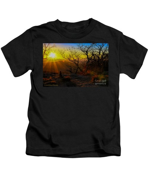Sunset From Blood Mountain Kids T-Shirt