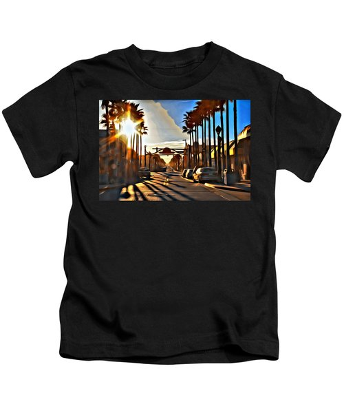 Sunset In Daytona Beach Kids T-Shirt