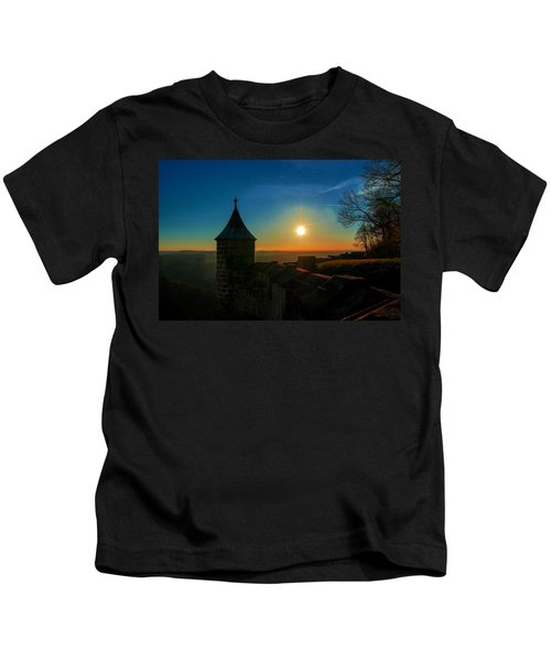 Sunset On The Fortress Koenigstein Kids T-Shirt