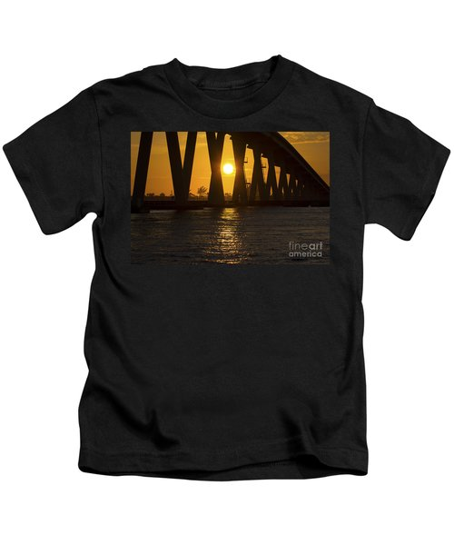 Sunset Over Sanibel Island Photo Kids T-Shirt