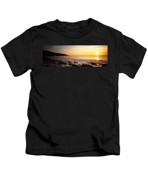 Sunset Over The Sea, Celtic Sea, Wales Kids T-Shirt
