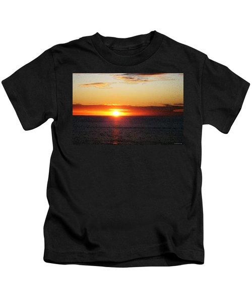 Sunset Painting - Orange Glow Kids T-Shirt