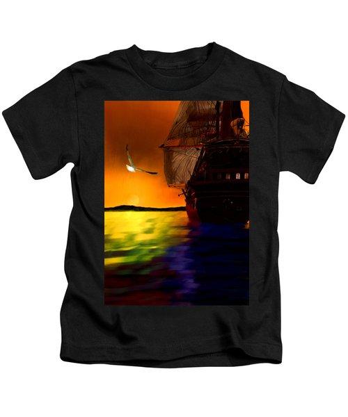 Sunset Sails Kids T-Shirt