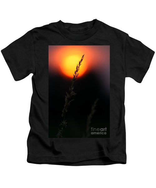 Sunset Seed Silhouette Kids T-Shirt