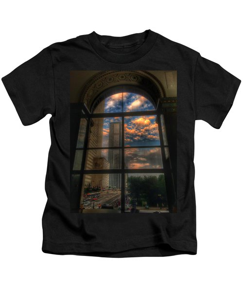 Sunset View Of Chicago Kids T-Shirt