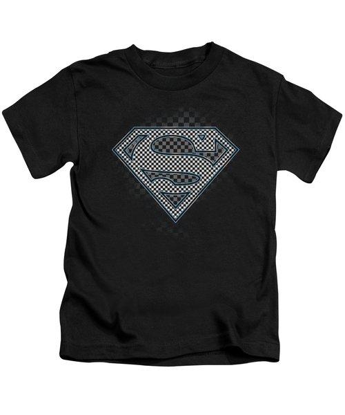 Superman - Checkerboard Kids T-Shirt