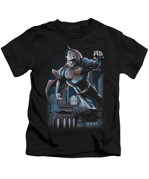 Superman - Night Fight Kids T-Shirt