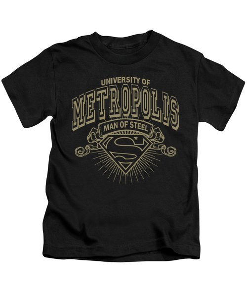Superman - University Of Metropolis Kids T-Shirt