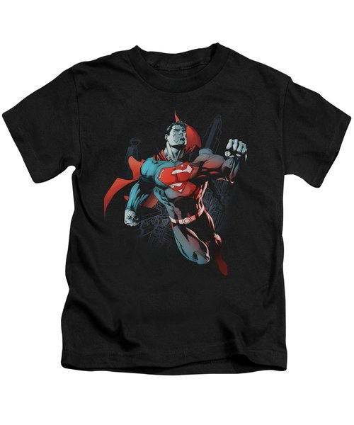 Superman - Up In The Sky Kids T-Shirt