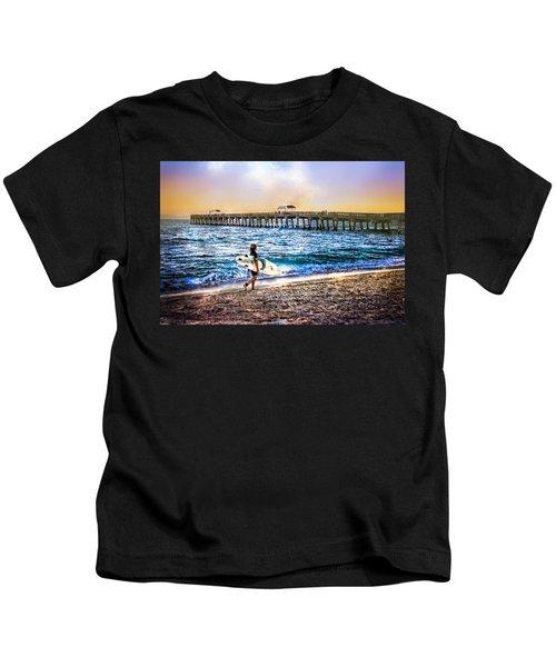 Surfer Boy Kids T-Shirt