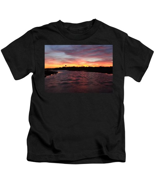 Swan River Sunset Kids T-Shirt