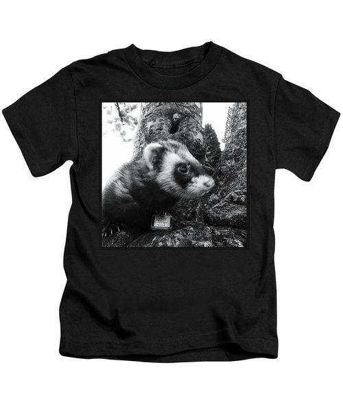 Sweet Little Nicky Chillin In A Tree Kids T-Shirt
