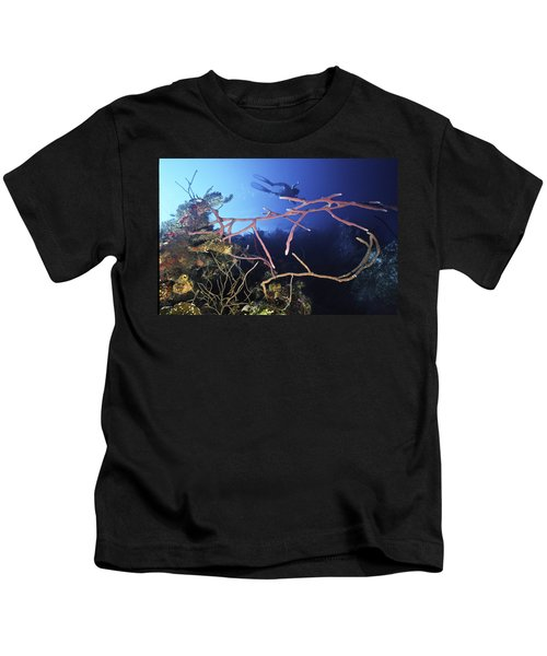 Swimming Over The Edge Kids T-Shirt