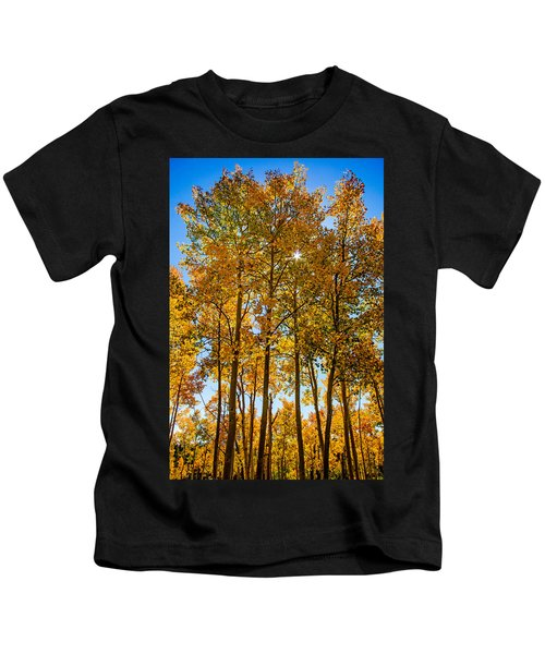 Tall Aspen With Sunstar Kids T-Shirt
