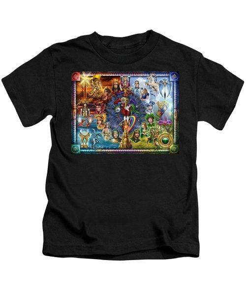 Tarot Of Dreams Kids T-Shirt by Ciro Marchetti