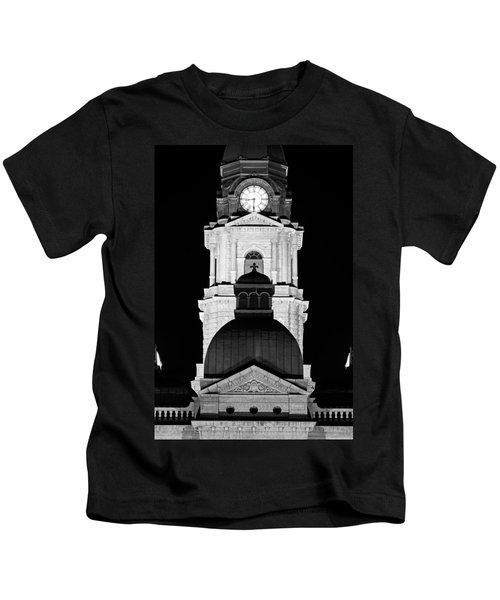 Tarrant County Courthouse Bw V1 020815 Kids T-Shirt