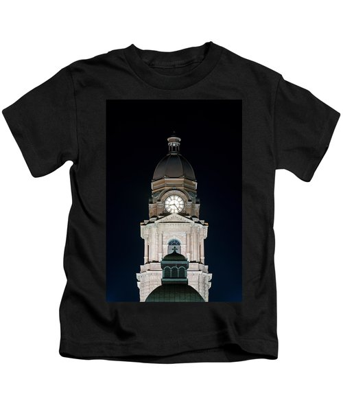 Tarrant County Courthouse V2 020815 Kids T-Shirt