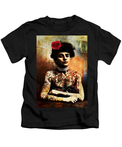 Tattoo Lady Kids T-Shirt