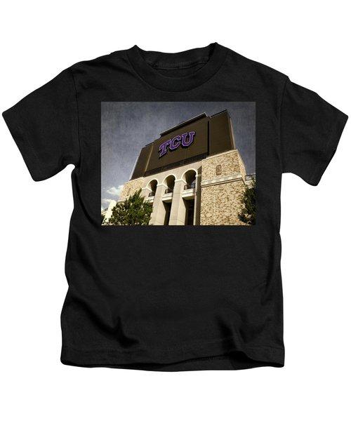 Tcu Stadium Entrance Kids T-Shirt
