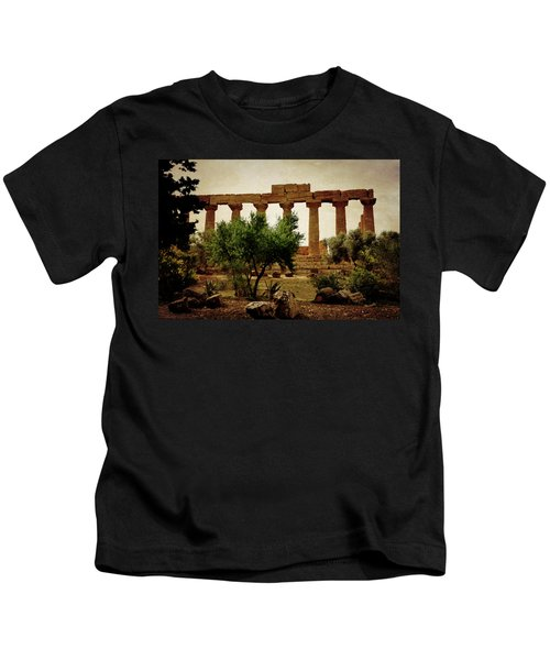Temple Of Juno Lacinia In Agrigento Kids T-Shirt