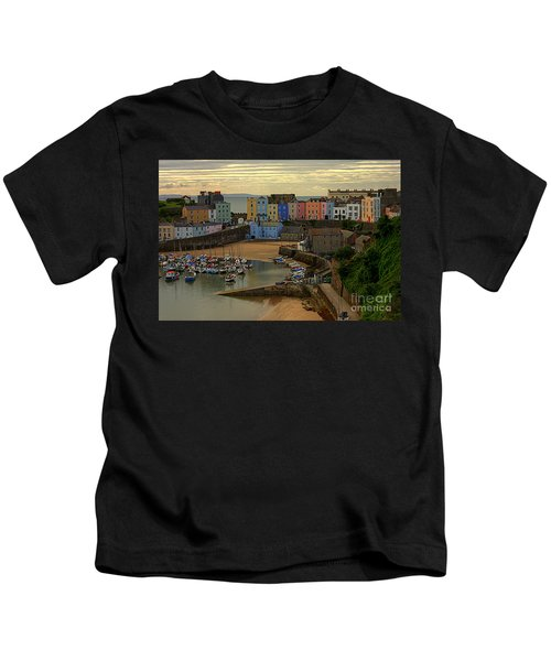 Tenby Harbour In The Morning Kids T-Shirt