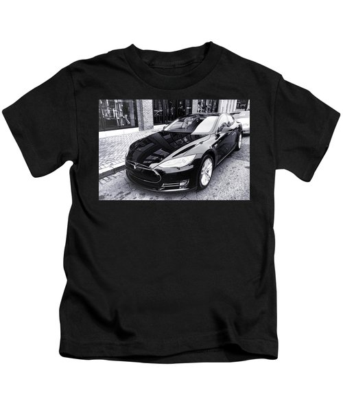 Tesla Model S Kids T-Shirt