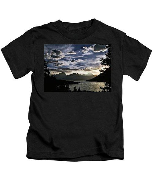 Teton Range Sunset Kids T-Shirt