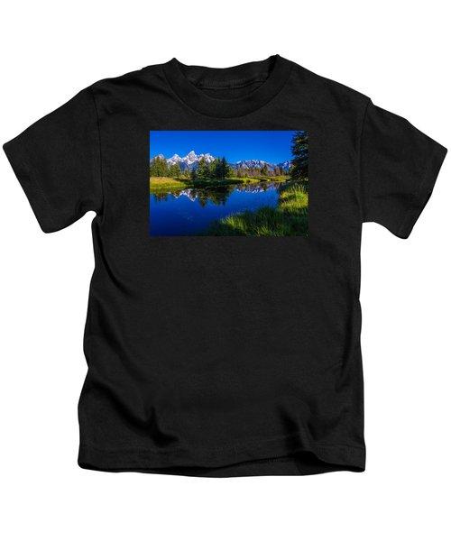 Teton Reflection Kids T-Shirt by Chad Dutson