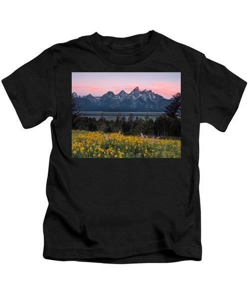Teton Spring Kids T-Shirt by Leland D Howard