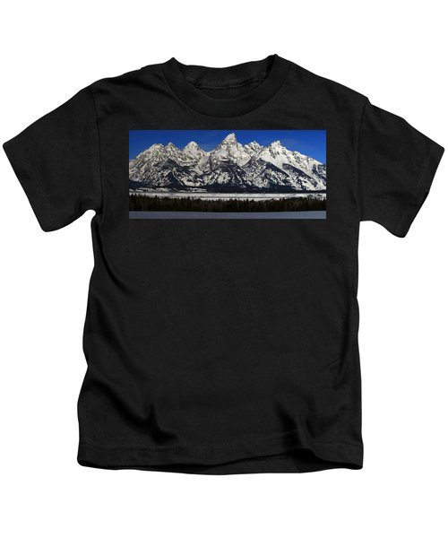 Tetons From Glacier View Overlook Kids T-Shirt