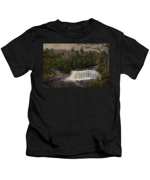 Textured Tahquamenon River Michigan Kids T-Shirt