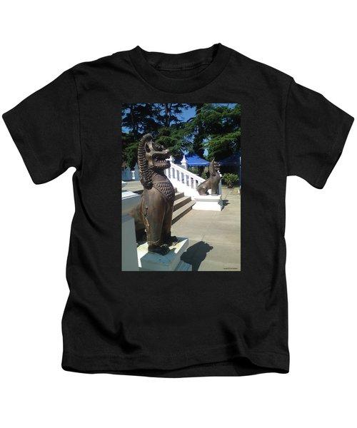 Thai Temple Steps Kids T-Shirt