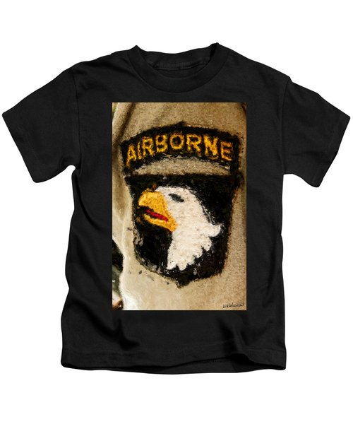 The 101st Airborne Emblem Painting Kids T-Shirt
