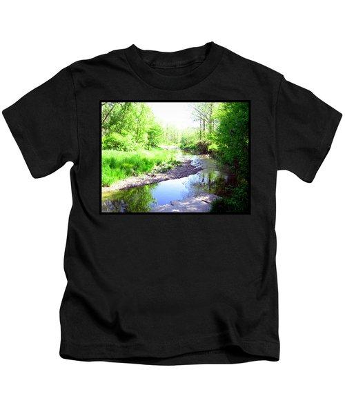 The Babbling Stream Kids T-Shirt