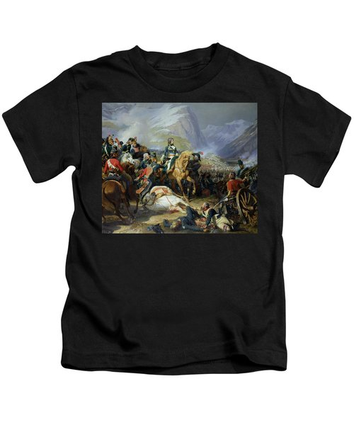 The Battle Of Rivoli, 1844 Oil On Canvas See Also 176686 Kids T-Shirt