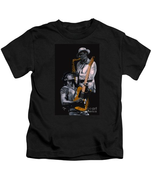 New Jersey's Bruce And Clarence Kids T-Shirt by Thomas J Herring