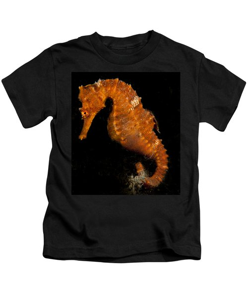 The Bright Orange Seahorse Kids T-Shirt