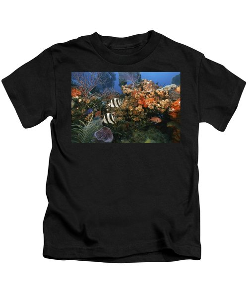 The Butterflyfish On Reef Kids T-Shirt