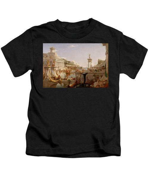 The Course Of Empire Consummation  Kids T-Shirt