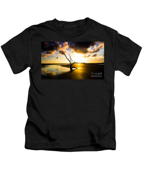 The Driftwood Tree Folly Beach Kids T-Shirt