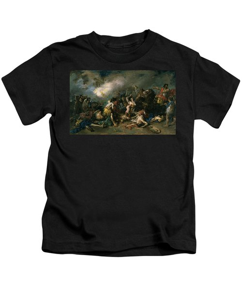 The Final Day Of Sagunto In 219bc, 1869 Oil On Canvas Kids T-Shirt
