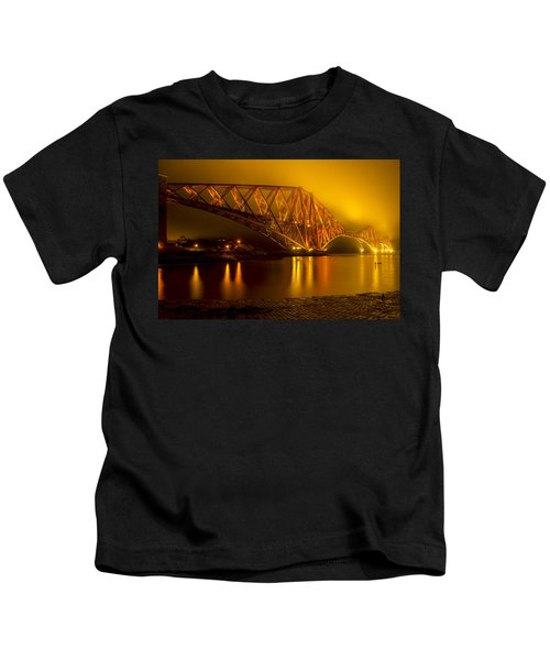The Forth Bridge From North Queensferry Kids T-Shirt