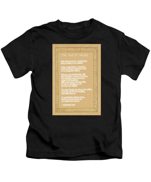 The Guest House Poem By Rumi Kids T-Shirt