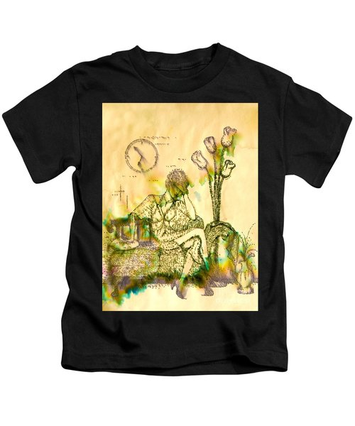 The Hold Up Sepia Tone Kids T-Shirt