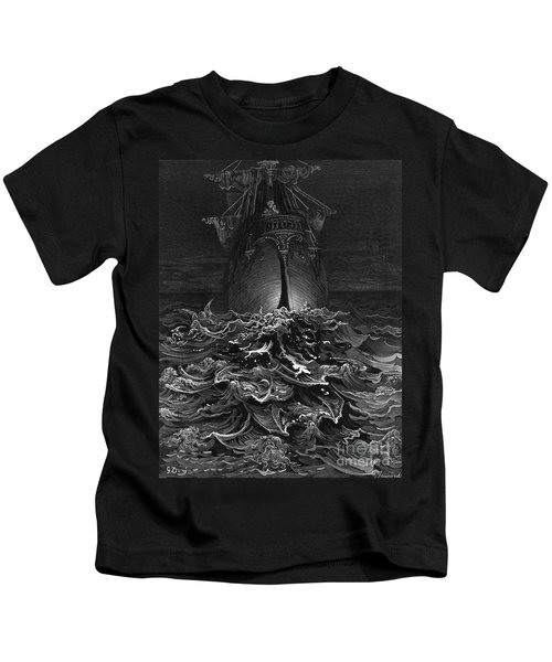 The Mariner Gazes On The Ocean And Laments His Survival While All His Fellow Sailors Have Died Kids T-Shirt